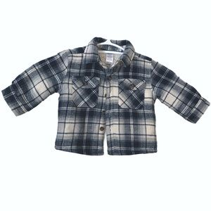 Little Boys Sherpa Lined Plaid